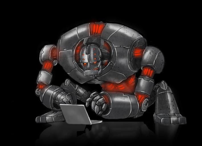 Computer Modeled Cg Evil Robot Illustration