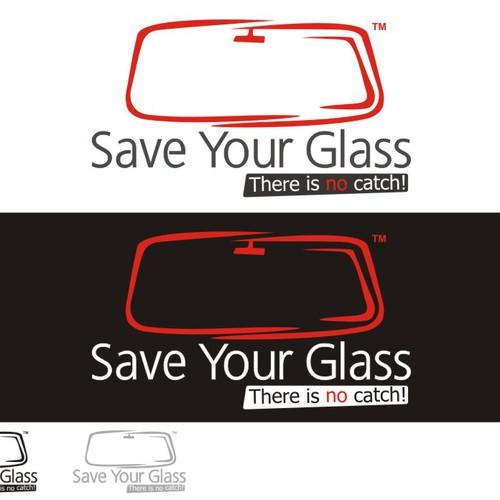 logo for auto glass repair business logo design contest