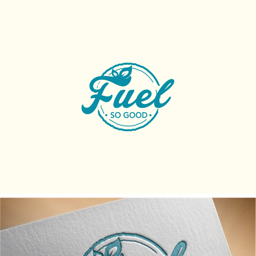 create a logo for quotfuel so goodquothealthy smoothie and