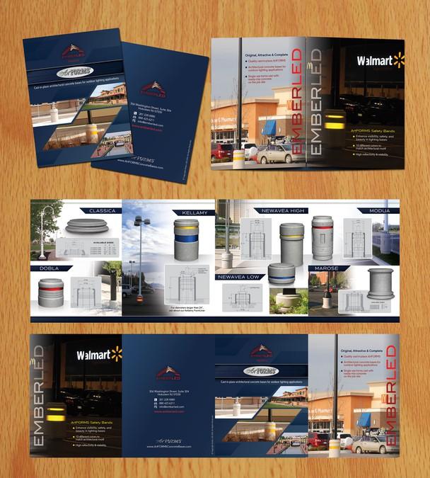 Modern brochure for award winning architectural product for Award winning brochure designs
