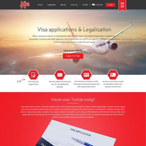 website template for a visa support service web page design contest. Black Bedroom Furniture Sets. Home Design Ideas