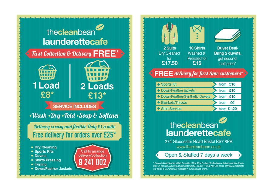 Flyer design for our new laundry delivery service to for Laundry flyers templates