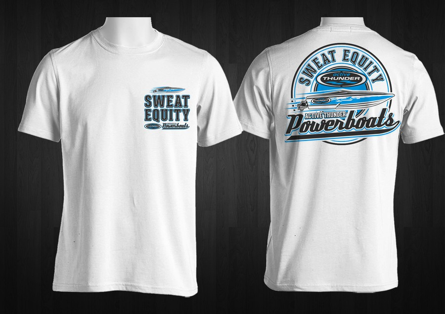Custom powerboat t shirt needed for miami boat show next for Custom boat t shirts