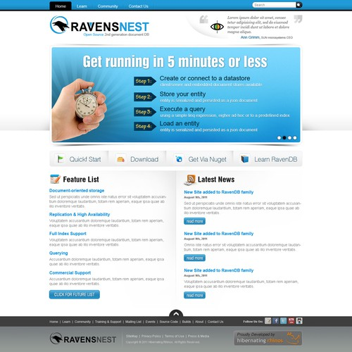 Runner-up design by Timefortheweb