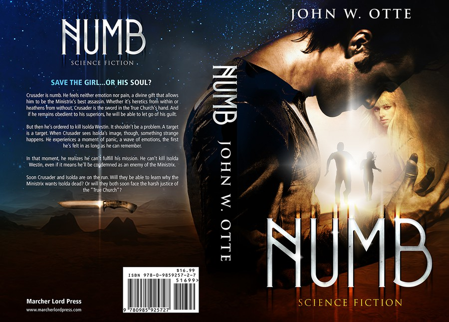 Most Creative Book Cover : Numb an explosive science fiction thriller needs your
